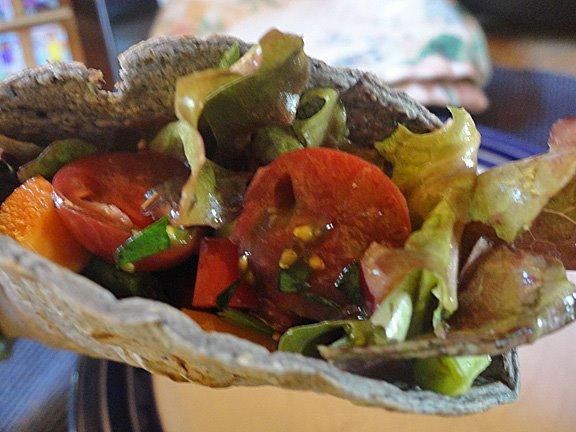 salad taco