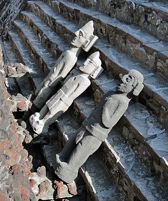 Templo Mayor Mexico City Statues