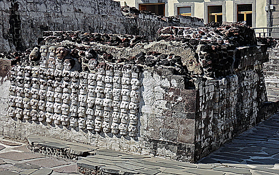 Templo Mayor Mexico City Skulls