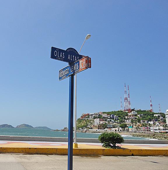 Street Sign Mazatlan