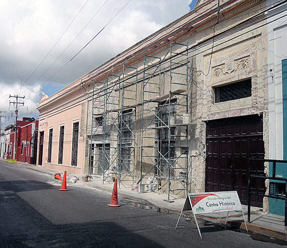 Mérida house renovation underway