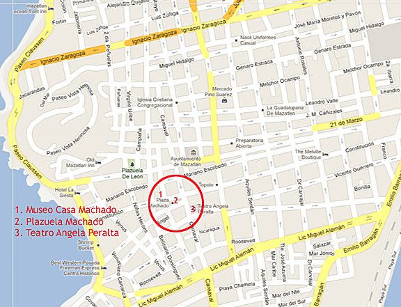 Mazatlan's Centro Map