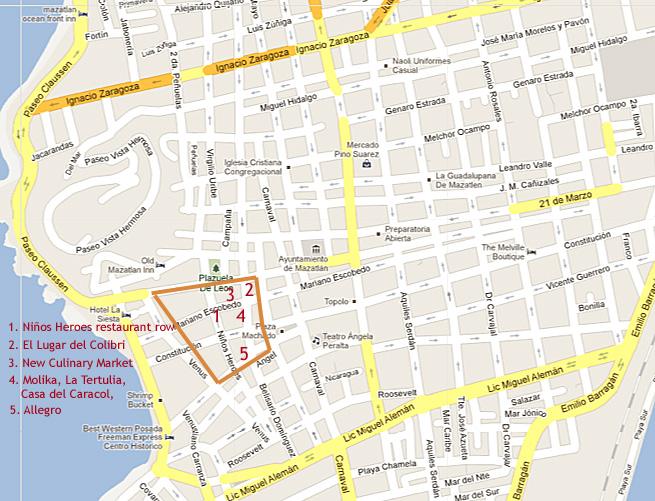 Centro Mazatlan Map
