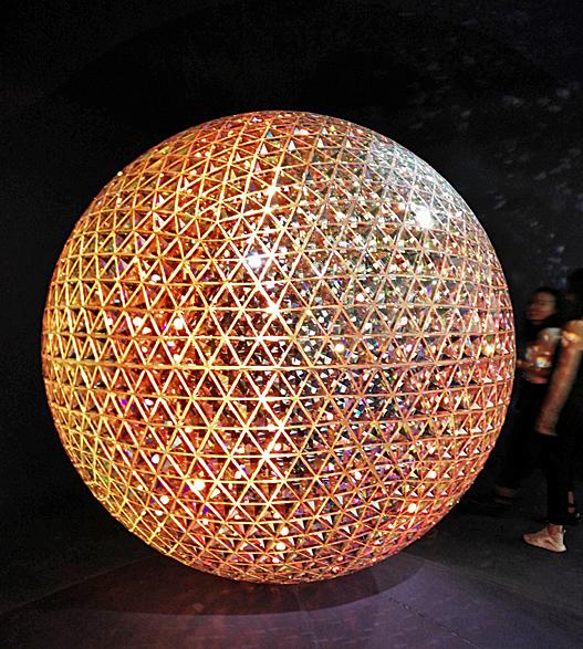 Swarovski Crystal Geodesic Globe