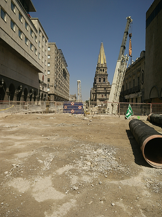 Downtown Guadalajara is under siege as they dig a subway.  It should take another year but will be fabulous when it is done.